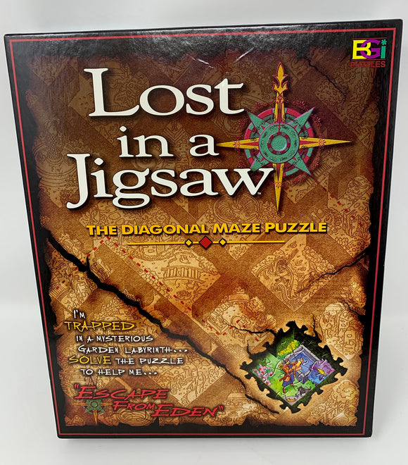 Lost in a Jigsaw - Diagonal Maze Puzzle