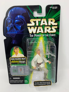 Star Wars The Power of the Force Luke Skywalker with T-16 Skyhopper Model