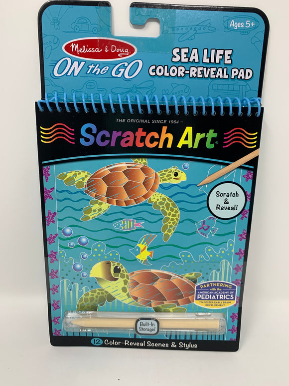Melissa & Doug Scratch Art- Sea Life