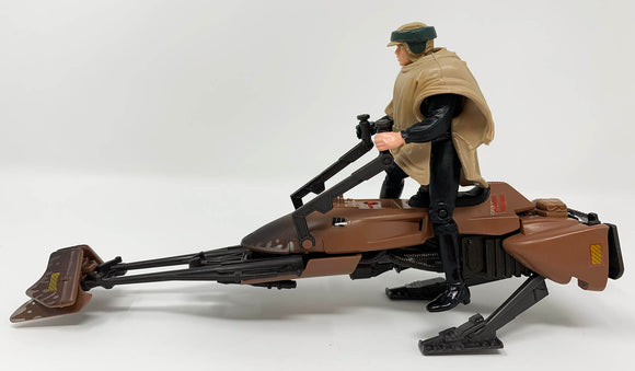 Star Wars Speeder Bike with Luke Skywalker in Endor Gear