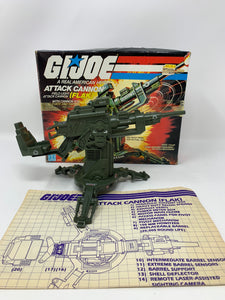 G.I. Joe FLAK Cannon with Box and Blueprints (1982)