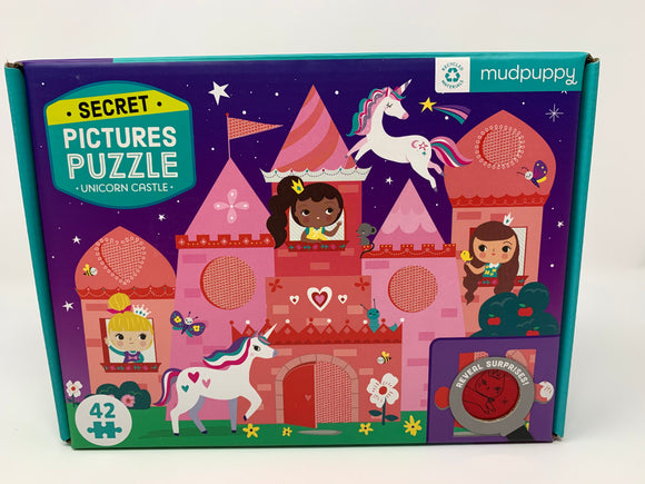 Mudpuppy Secret Pictures Puzzle Unicorn Castle