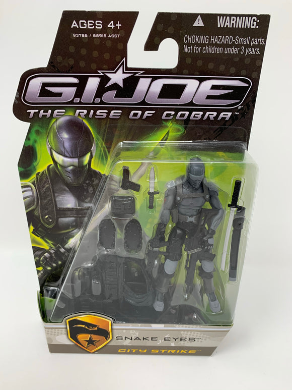 "G.I. Joe The Rise of Cobra ""Snake Eyes"" City Strike"
