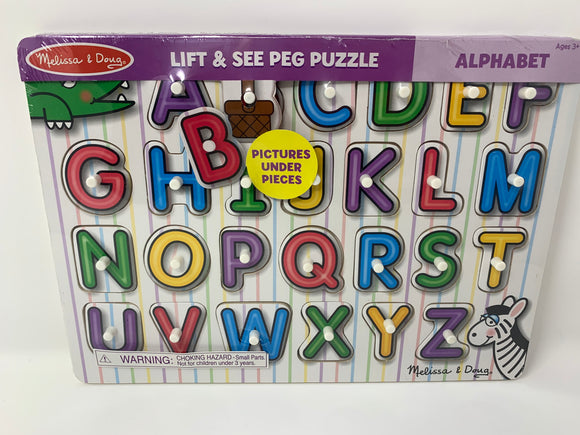Melissa & Doug Lift and See Alphabet Puzzle