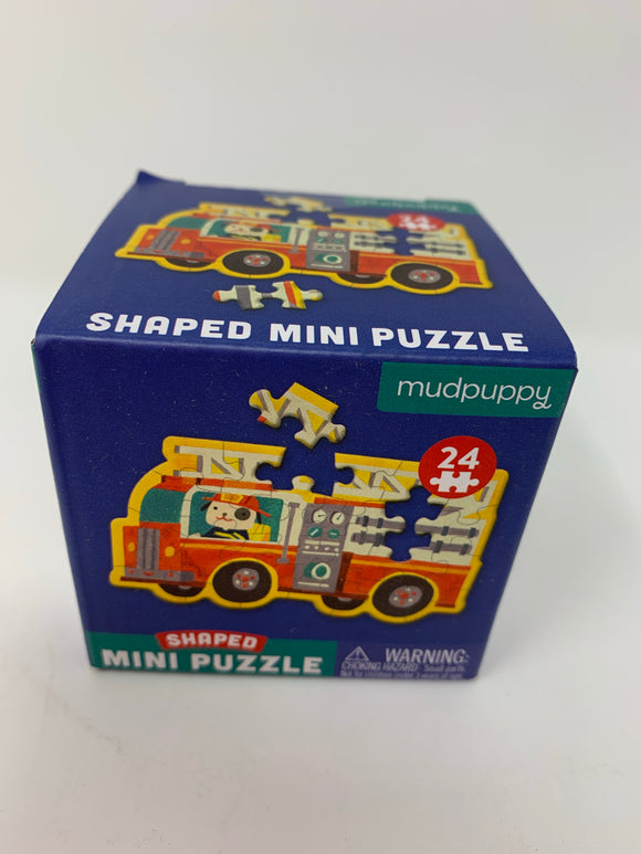 Mudpuppy Shaped Mini Puzzle Fire Truck