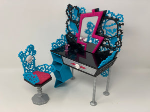 Frankie Stein's Makeup vanity and chair