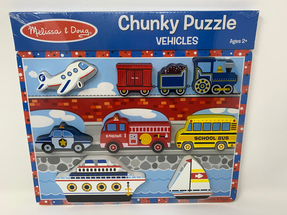 Melissa & Doug Chunky Vehicle Puzzle