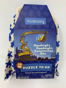 "Mudpuppy Puzzle To Go ""Goodnight, Goodnight Construction Site"""