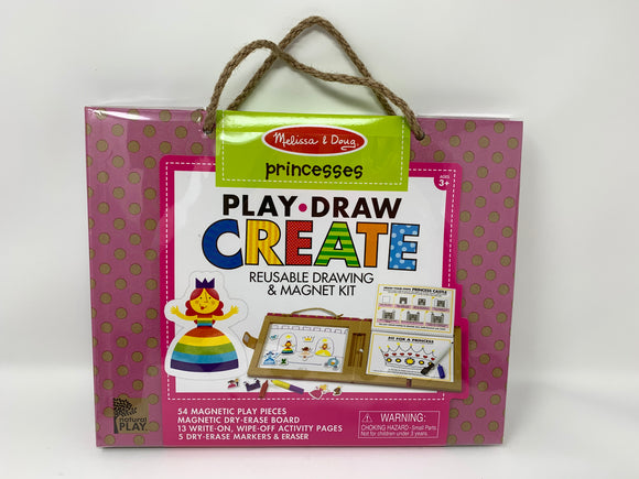 Princess Play, Draw, Creatw Magnet Kit