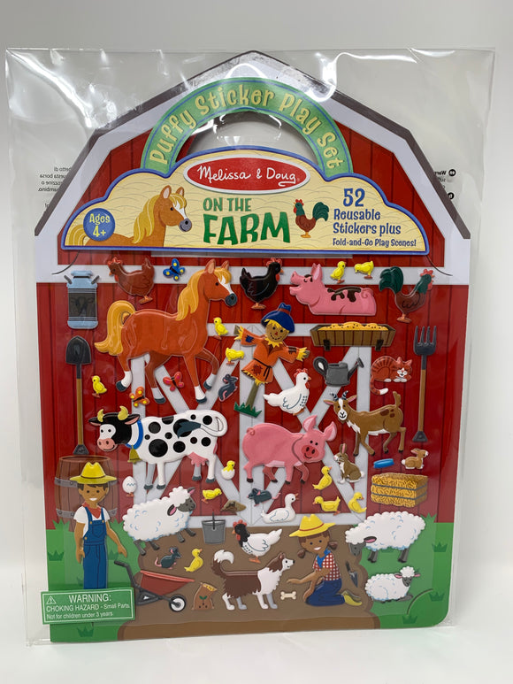Melissa & Doug On the Farm Puffy Stickers