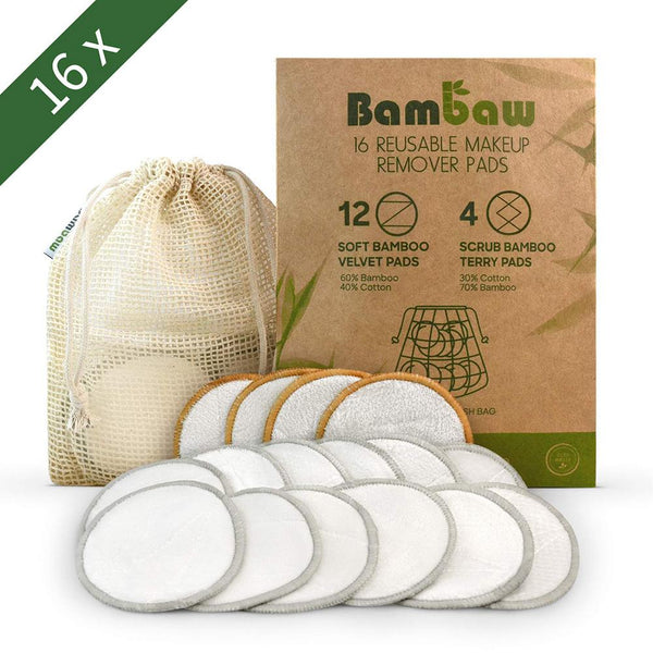 BamBaw ™ Double Layer Reusable Bamboo Makeup Remover Pads