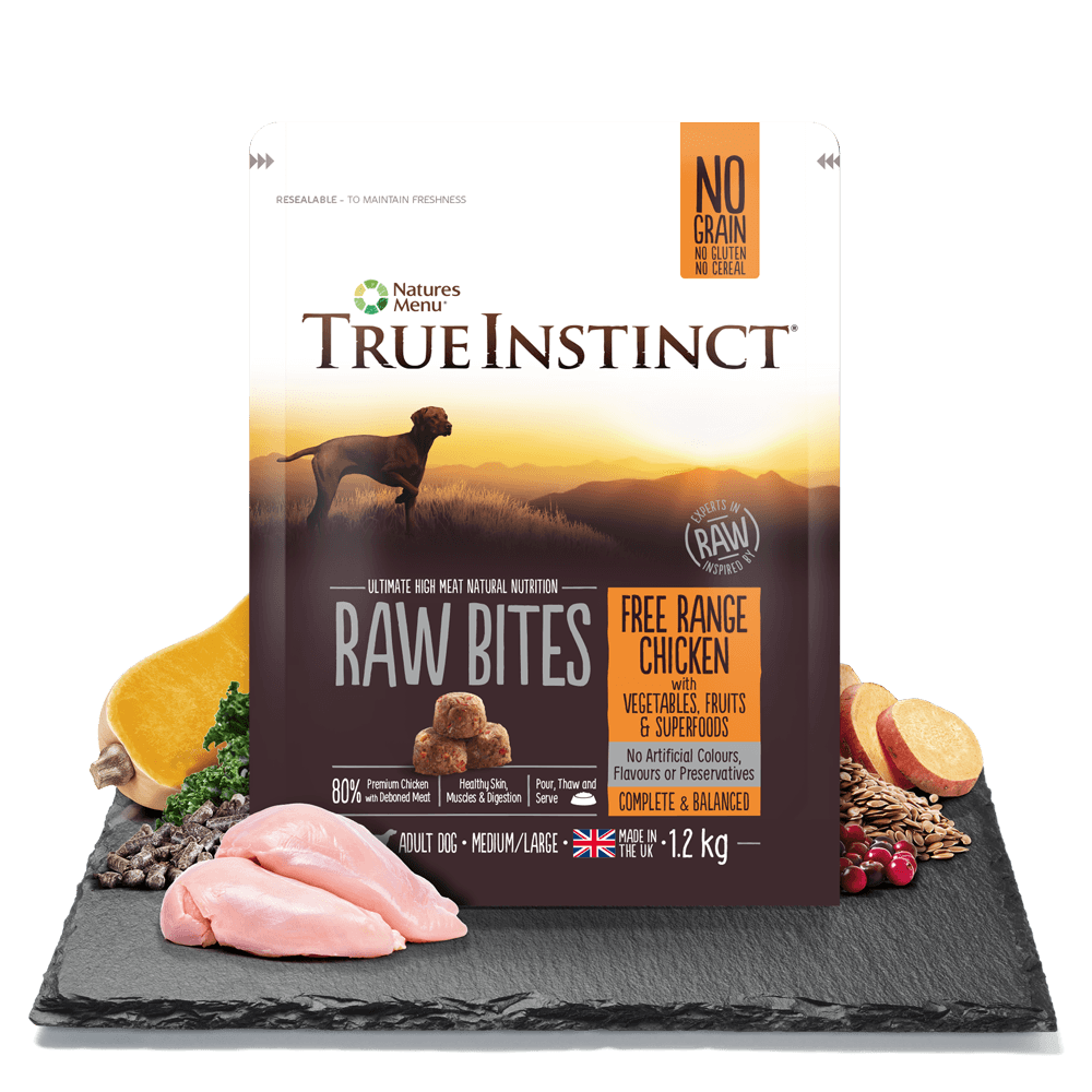 True Instinct Raw Bite Free Range Chicken Dog 1.2kg