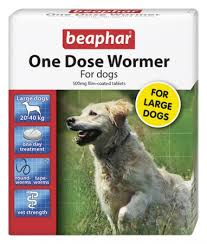 Beaphar One Dose Wormer Large Dogs 4 Tab
