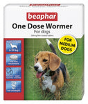 Beaphar One Dose Wormer for Medium Dogs 2 Tabs