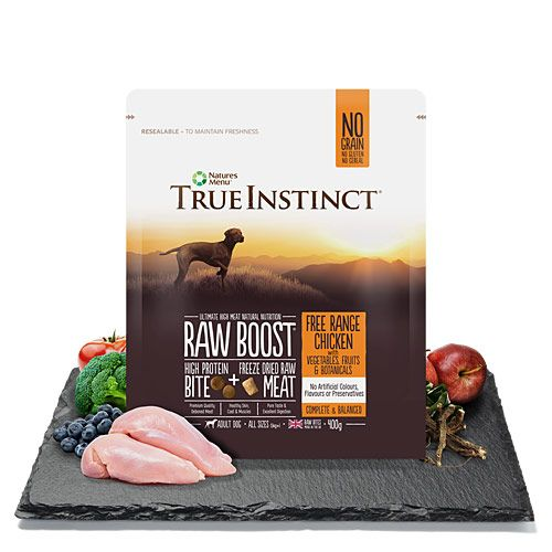 True Instinct Raw Boost Free Range Chicken Adult Dog 400g