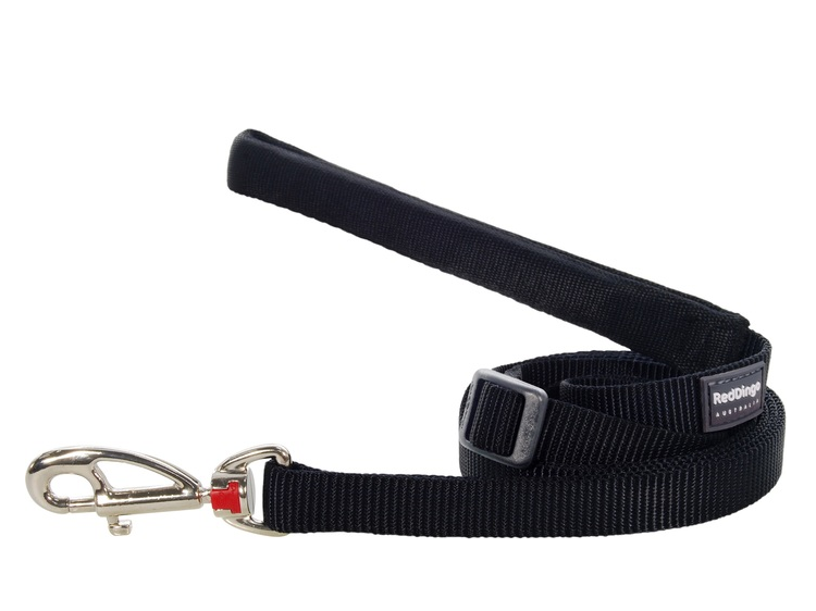 Red Dingo Plain Black 1.8m Dog Lead
