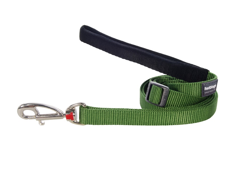Red Dingo Plain Green 1.8m Dog Lead