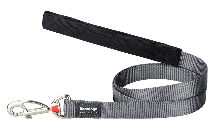 Red Dingo Plain Grey 1.2m Dog Lead