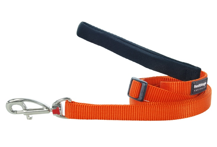 Red Dingo Plain Orange 1.8m Dog Leads