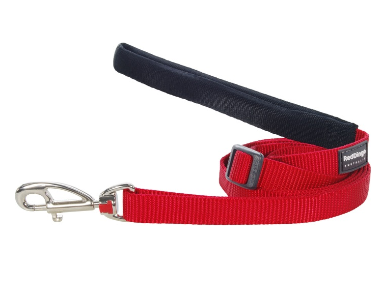 Red Dingo Plain Red 1.8m Dog Lead