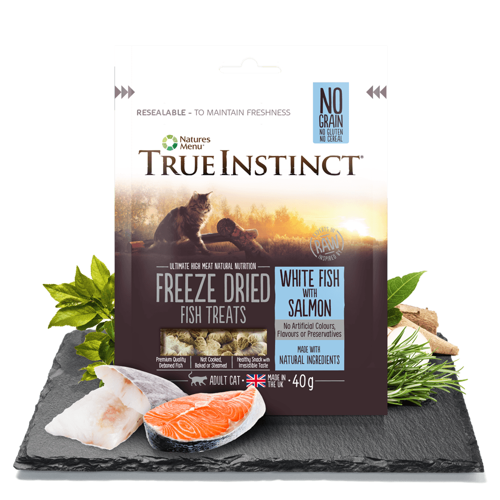 True Instinct Freeze Dried Treat Fish and Salmon Cat 40g [DCse 8]