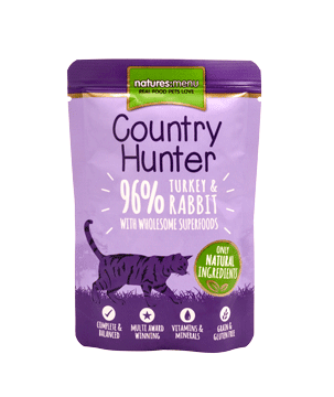 Natures Menu Country Hunter Cat Pouch Turkey & Rabbit 85g