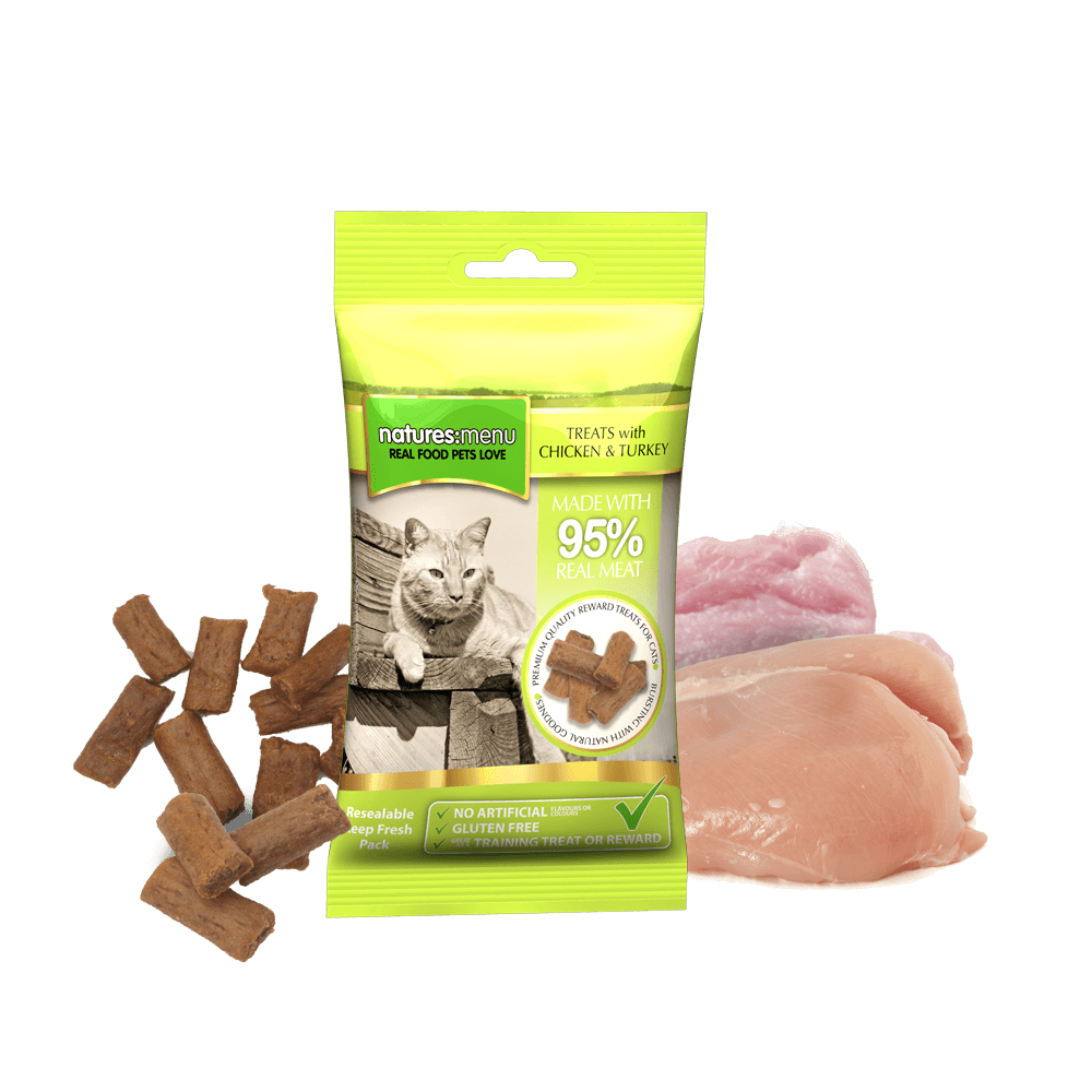 Natures Menu Cat Treats Chicken and Turkey 60g [DCse 12]