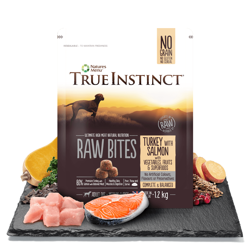 True Instinct Raw Bites Turkey with Salmon For Adult Dogs 1.2kg