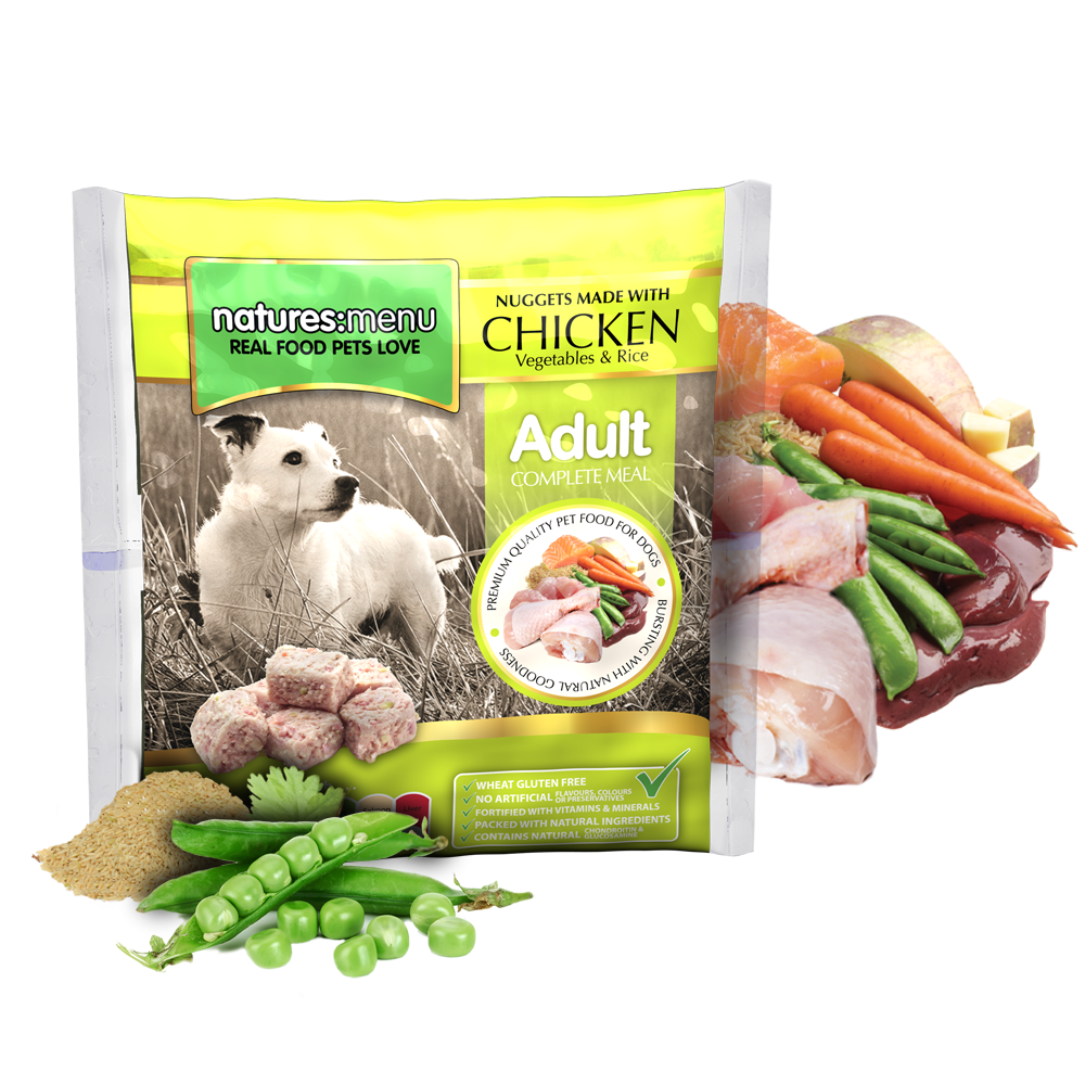 Natures Menu Nuggets Chicken, Veg and Rice 1kg