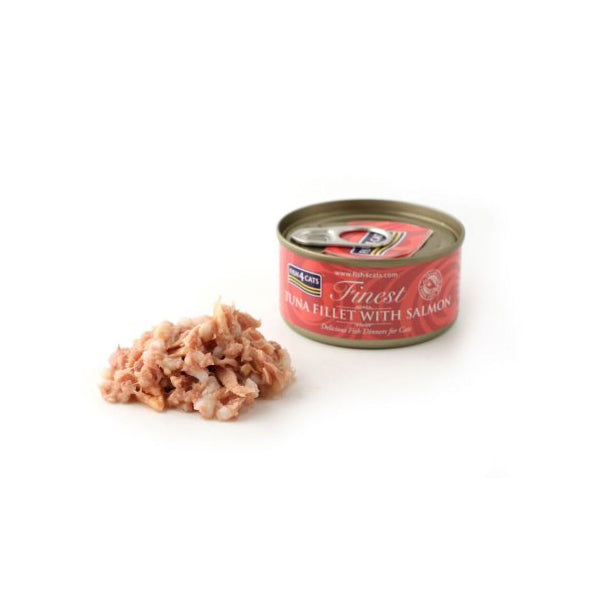 Fish4Cats Finest Fish4Cats Tuna Fillet with Salmon 10 x 70G [DCse 10]