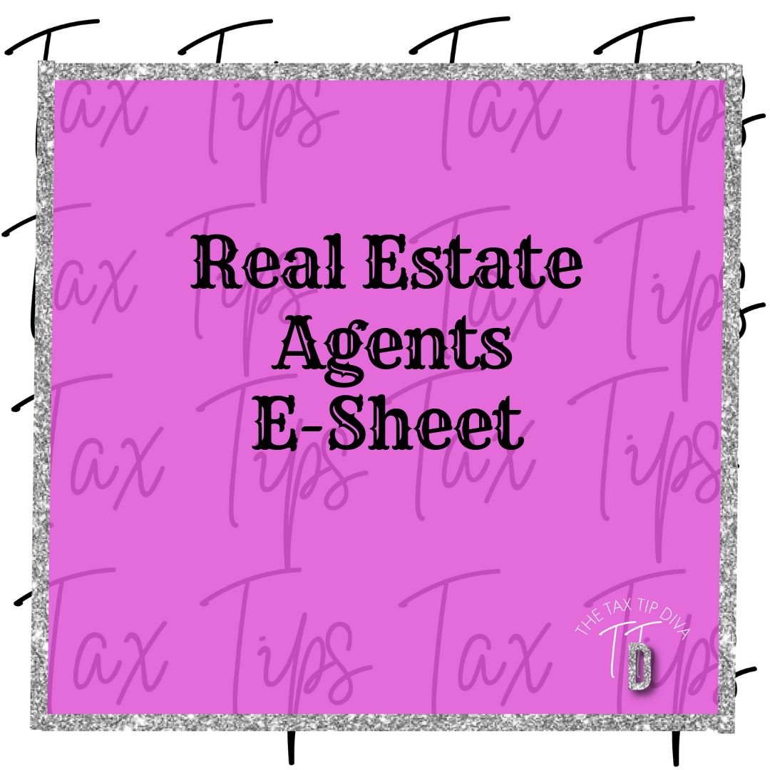 REAL ESTATE AGENTS E-SHEET