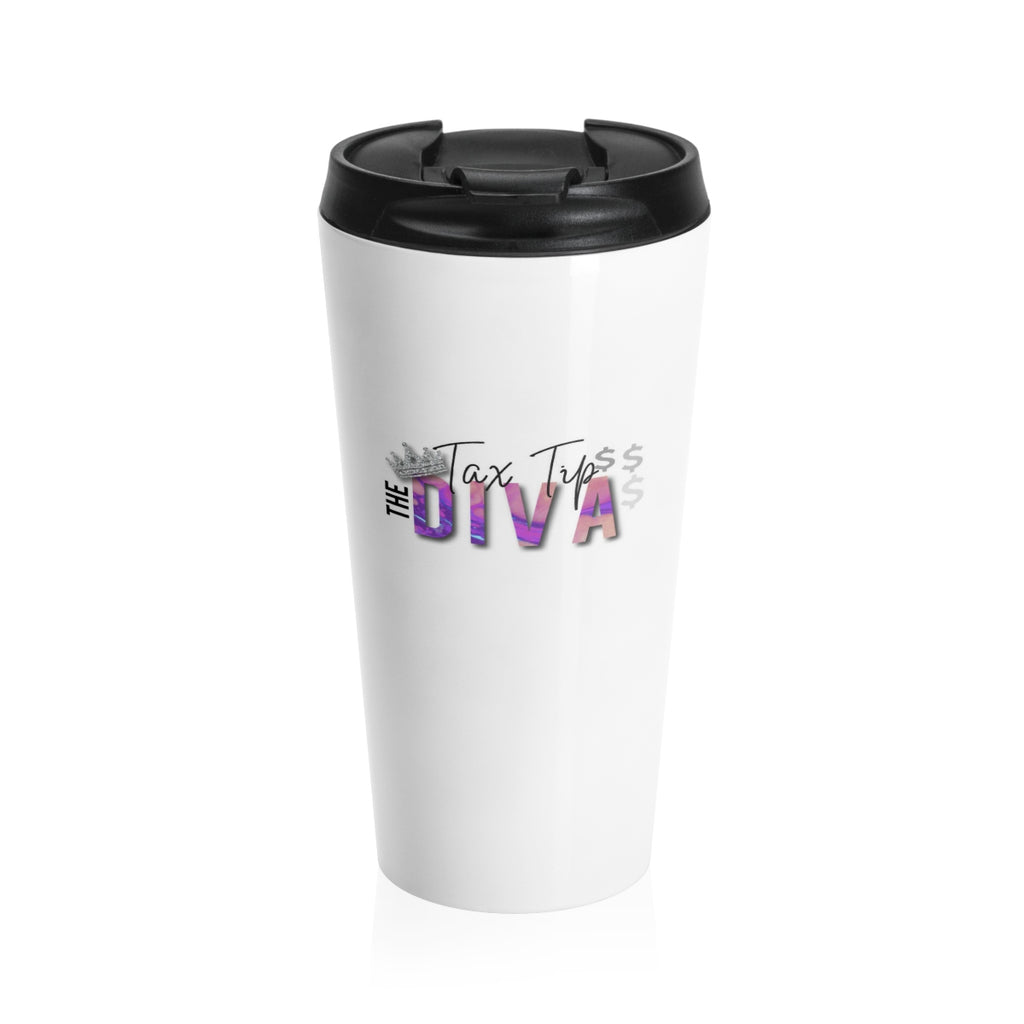 Tax Tip Diva Stainless Steel Travel Mug