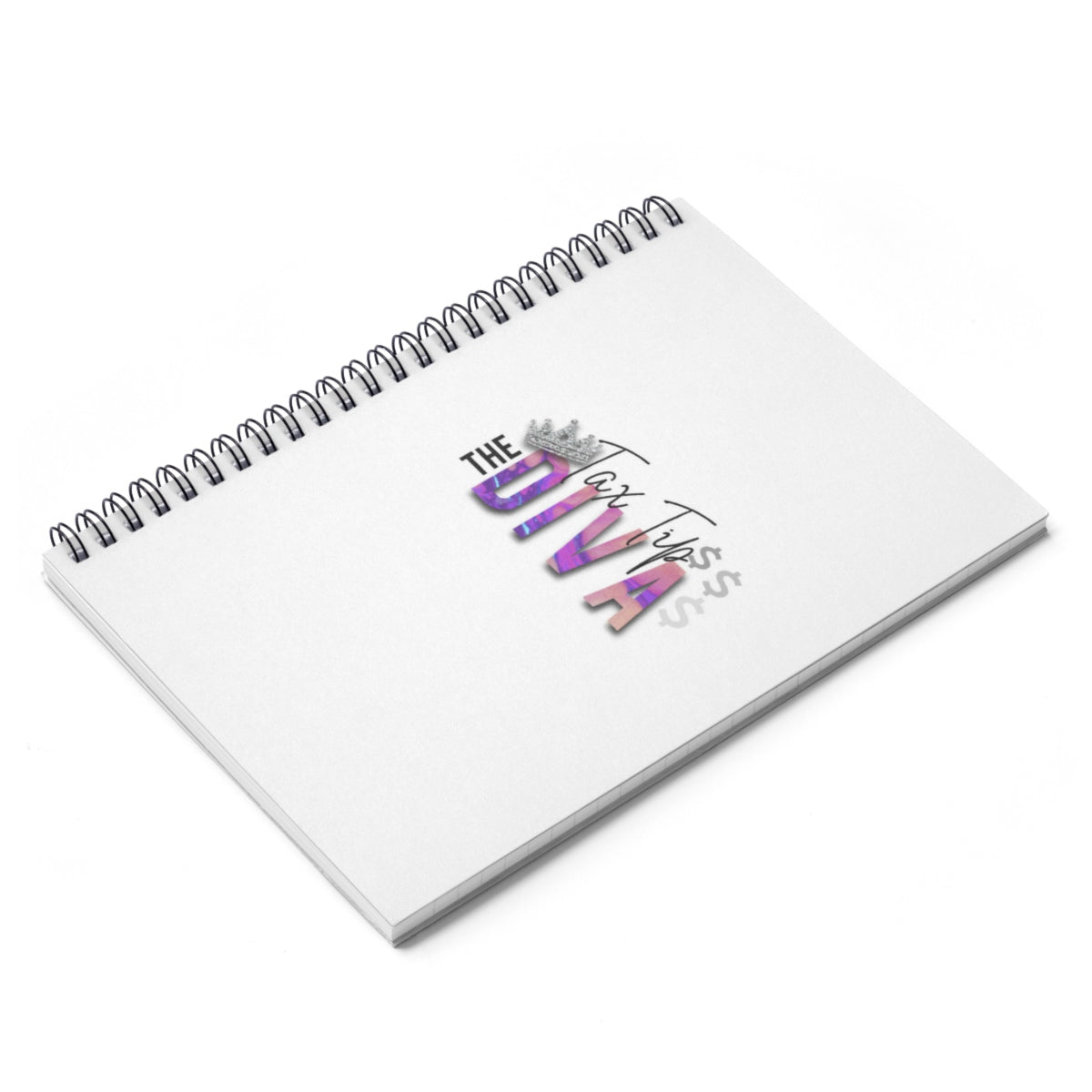 Tax Tip Diva Spiral Notebook - Ruled Line