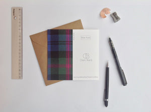 duck drake tartan card animal | Clare Baird