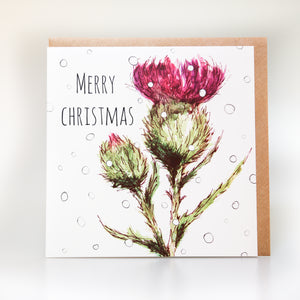 Thistle/Flower of Scotland Christmas Card