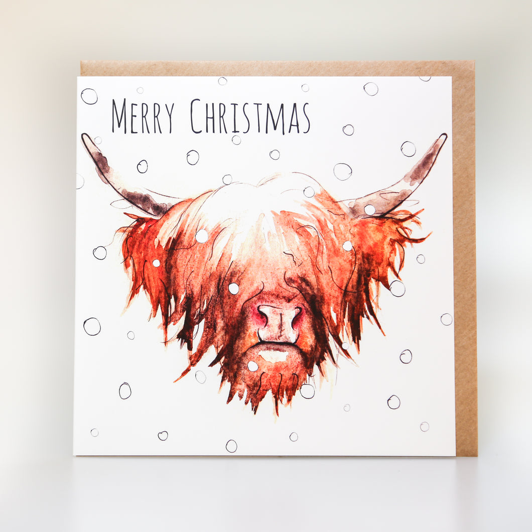 Highland Cow Christmas Card