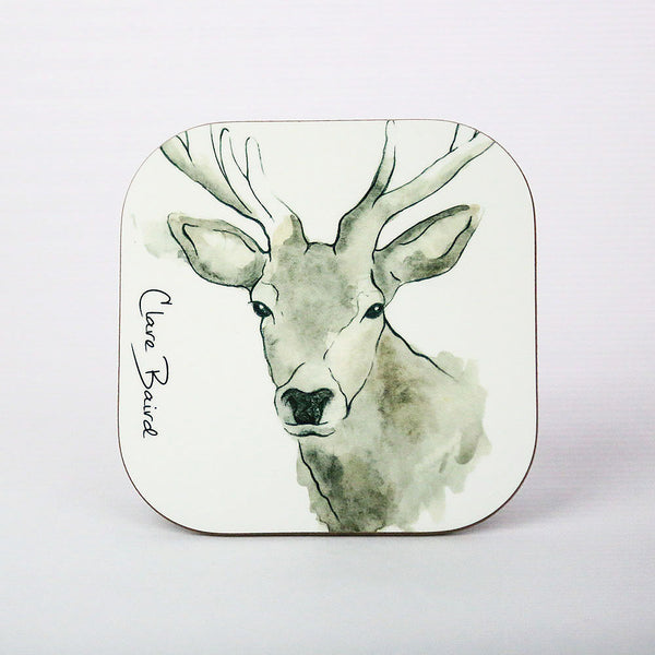 Scottish Highland Stag Coaster | Artist, Clare Baird