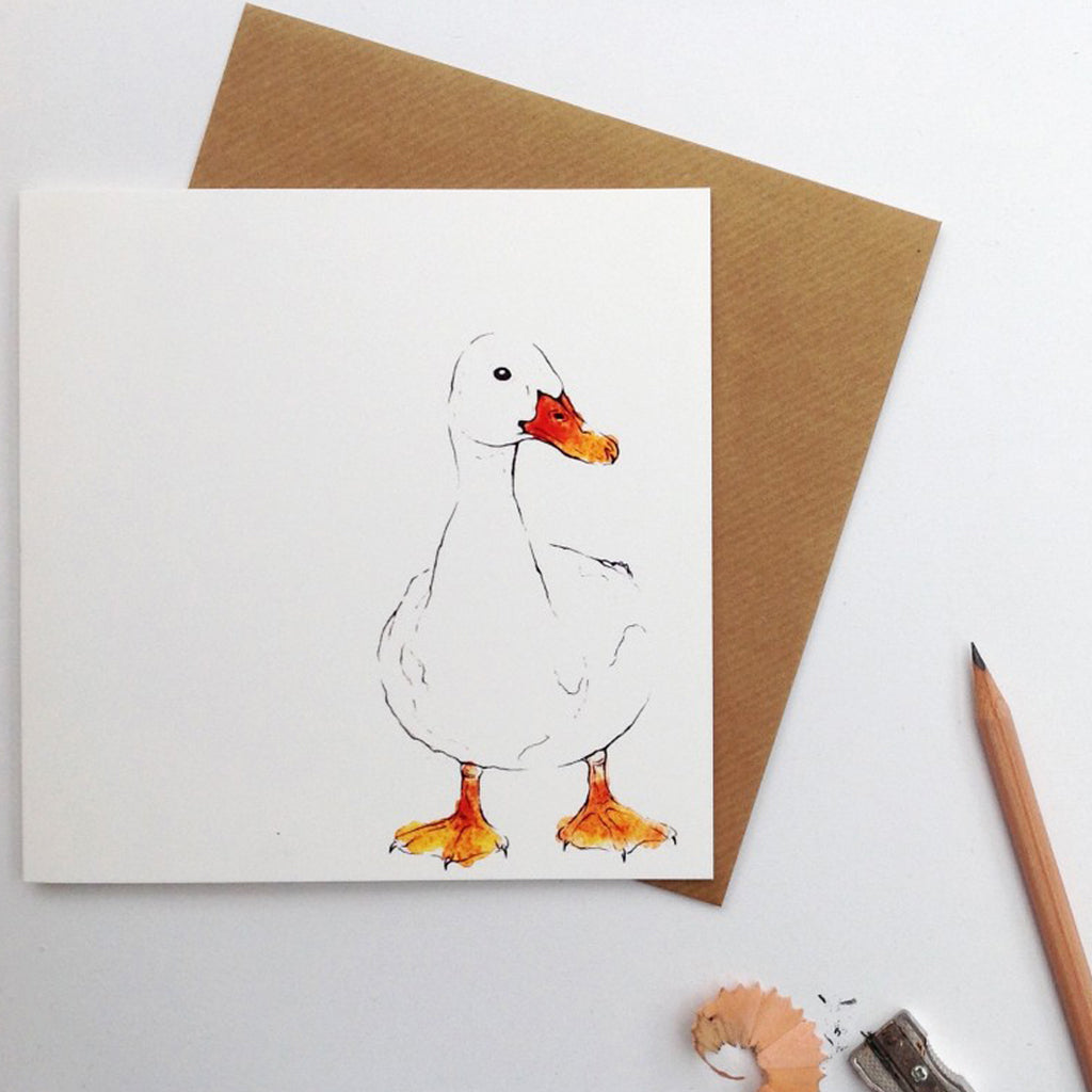 duck drake greetings card | Clare Baird