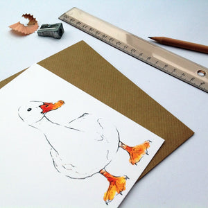 duck drake card animal blank | Clare Baird