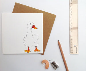 duck drake greetings card animal | Clare Baird