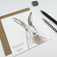 Load image into Gallery viewer, MOUNTAIN HARE CARD
