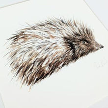Load image into Gallery viewer, Hedgehog Art | Clare Baird