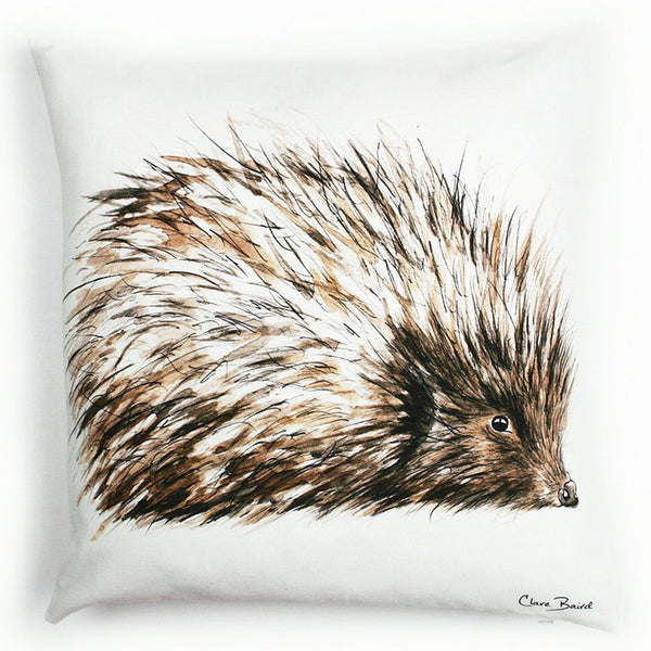 Hedgehog Wildlife Cushion Art | Clare Baird