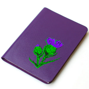 SMALL A6 PURPLE BRAE LEATHER JOURNAL