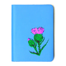 Load image into Gallery viewer, SMALL A6 SKYE BLUE LEATHER JOURNAL