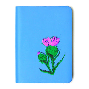 SMALL A6 SKYE BLUE LEATHER JOURNAL