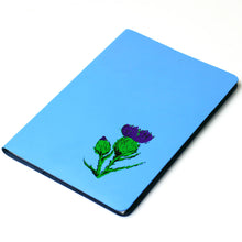 Load image into Gallery viewer, LARGE A5 SKYE BLUE LEATHER JOURNAL