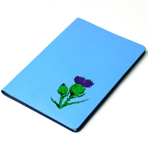 LARGE A5 SKYE BLUE LEATHER JOURNAL