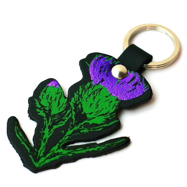 Scottish Thistle Key Ring Gift