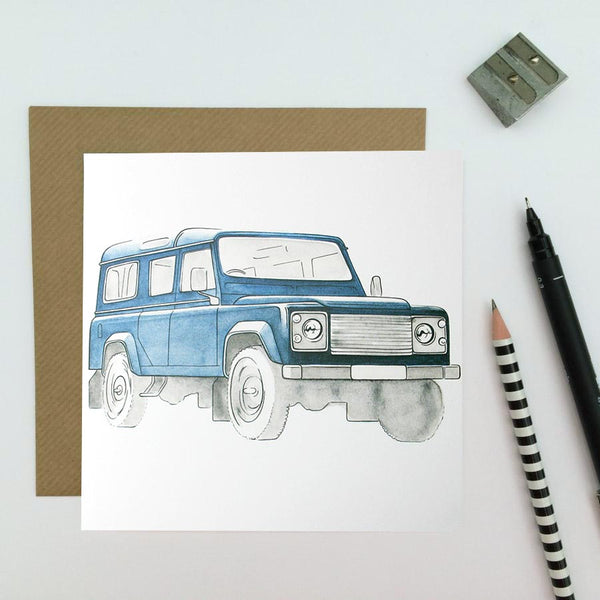 Land Rover Card - Navy